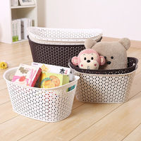 Eco-Friendly OEM plastic durable wicker laundry storage basket,wicker basket