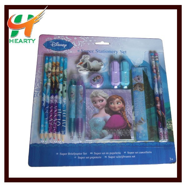 Hot Selling Customized Logo Kids Stationery Set with Cartoon Image for School Children