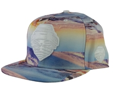 Adjustable 100% polyester printing pattern snapback cap, 6 panel style high crown wear snapback hat