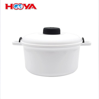 2.85L Plastic pp Kitchen Microwave food steamer / rice cooker/ microwave cooker with measuring cup paddle