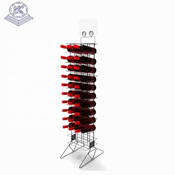 free stand durable wire wine bottle display stand