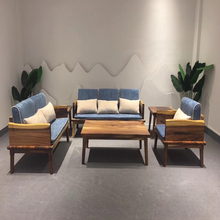 first Factory direct sales of South American walnut of completely real wood sofa