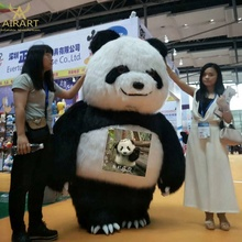 <strong>Inflatable</strong> style plush cartoon auspicious event <strong>inflatable</strong> panda