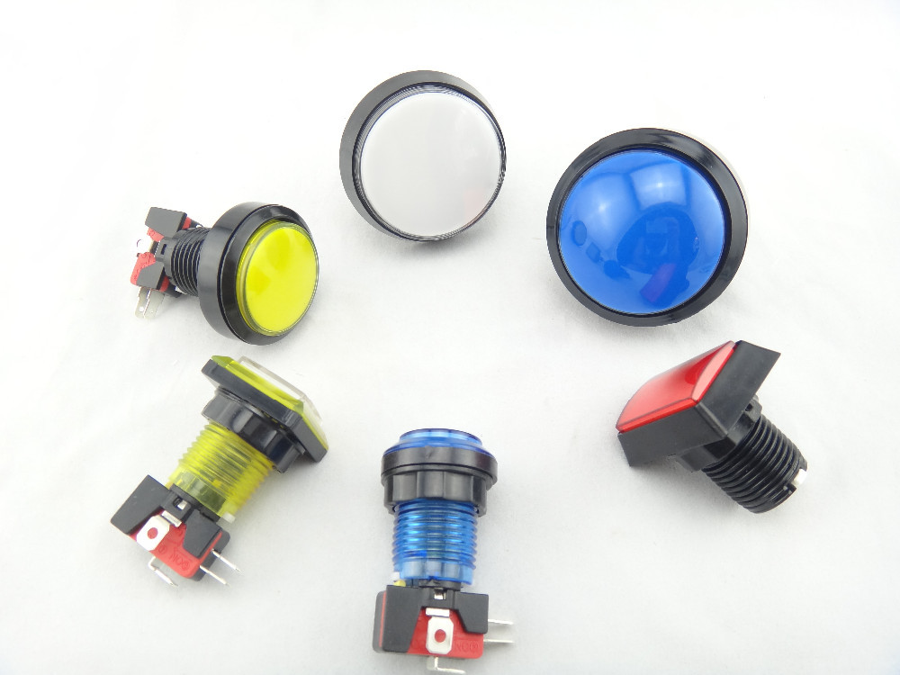 2017 hot sale illuminated Momentary led 12 volt arcade switch push button switch
