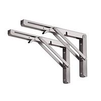 Heavy duty stainless steel adjustable fold down 90 degrees L angle folding mount shelf bracket