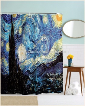 Exquisite photo print fashion polyester 84 inch shower curtain