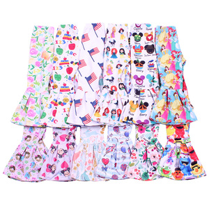 Nice print baby girl pants for spring and summer mermaid leg opening toddler trousers