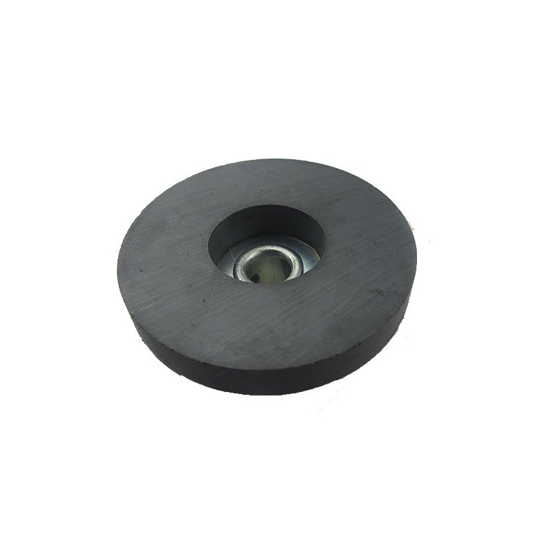 Super strong <strong>Y30</strong> Permanent isotropic ferrite magnet countersink hole