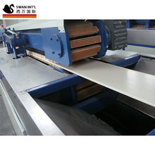 Shanghai SWAN 3d pvc wall panel making machine/production <strong>line</strong> price