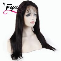 100% Brazilian Human Hair Glueless 360 Lace Frontal Wigs Pre Plucked Lace Front Long Natural Straight Wig with Baby Hair for Wom