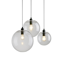 Nordic Fancy Vintage Industrial Chandelier Pendant <strong>Light</strong> with Clear Glass Home Lighting Modern Led Lamp