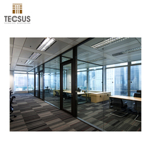 modern office room dividers half glass wall partition
