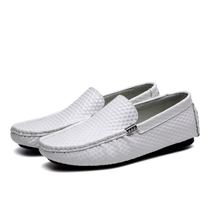 LAPENS 005 Shoes Men Casual Loafers Genuine Leather Shoes