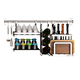 Free Combination Kitchen Wall Mounted Storage Rack Spice Use and Stainless Steel Hanging Rack