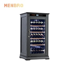 Luxury oem electronic living room humidity control wine display cabinet modern wine cooler fridge with light