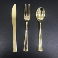 Gold and Rose Gold Extra Heavyweight Plastic Cutlery