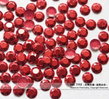 Y0901 on line! China factory wholesale 4mm red rhine stud hot fix,  transfer rhinestuds,wholesale iron on rhinestud