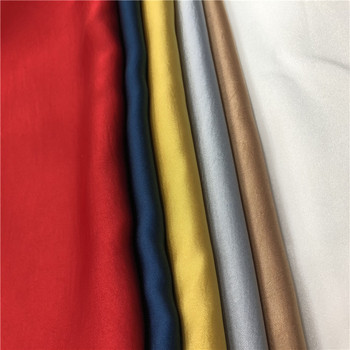 Wholesale woven dyed 145gsm crepe 100%polyester satin fabric by the yard