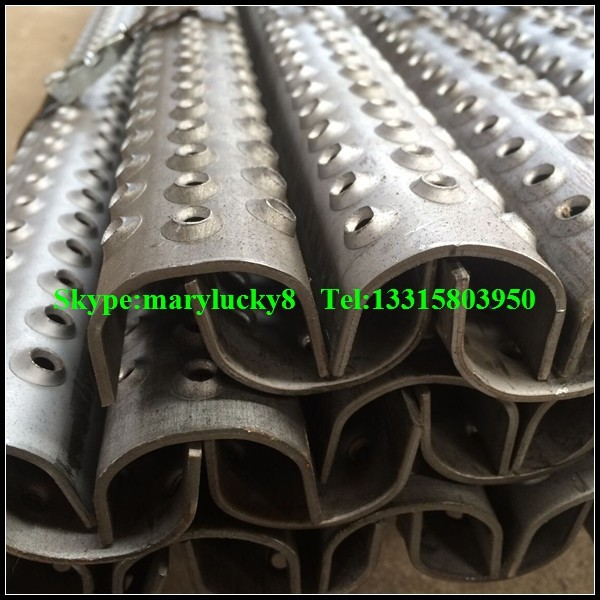 Anti Skid Ladder Rungs 2 Hole Ladder Rung View Steel