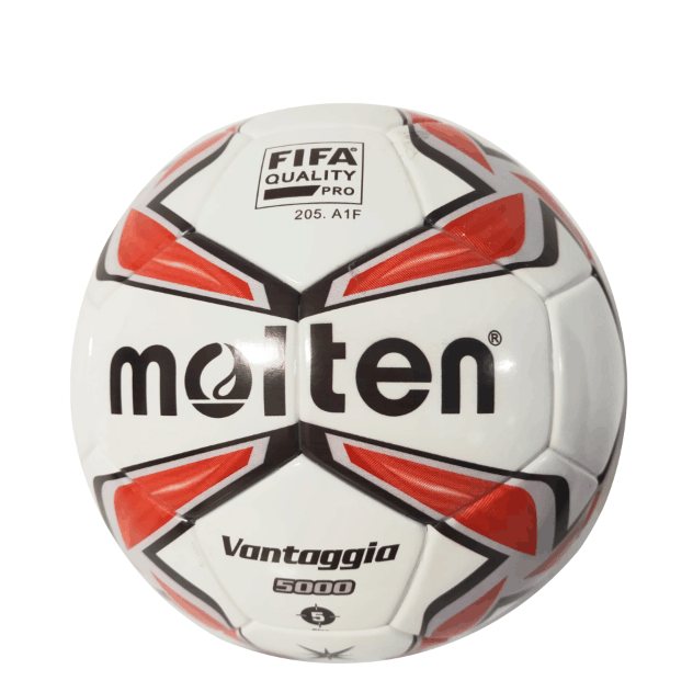 Cheap Wholesale Red White Good Quality <strong>Football</strong> Molten Thermal Bonded PU Soccer Ball Standard Size 5 Customize Logo <strong>Football</strong>