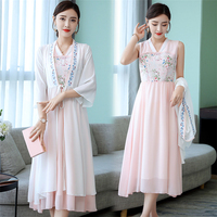 Fashion Design Water Soluble Lace Casual Dresses Fashionable Elegant Chinese Dress