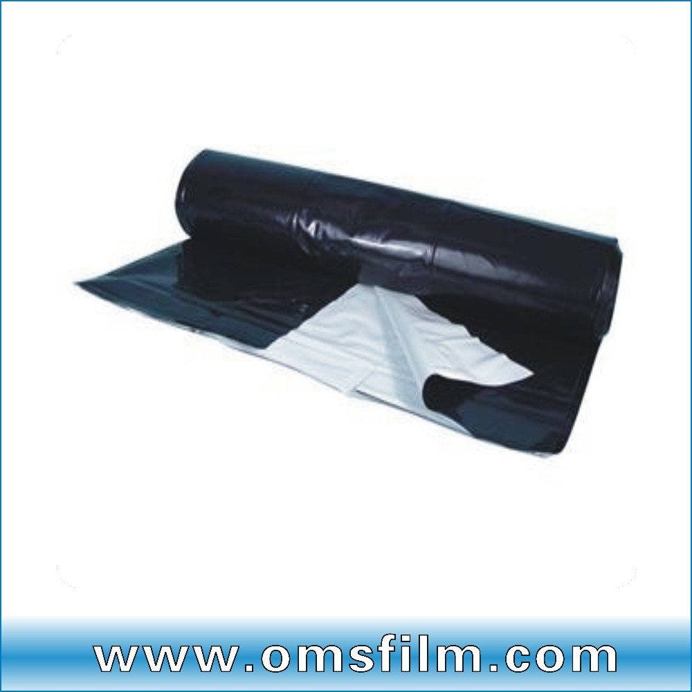 8 m wide plastic film white/black hydroponic panda film