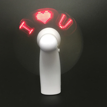 Best Selling Hand Held Led Flashing Handy Programmable LED Mini <strong>Fan</strong> For Travellers