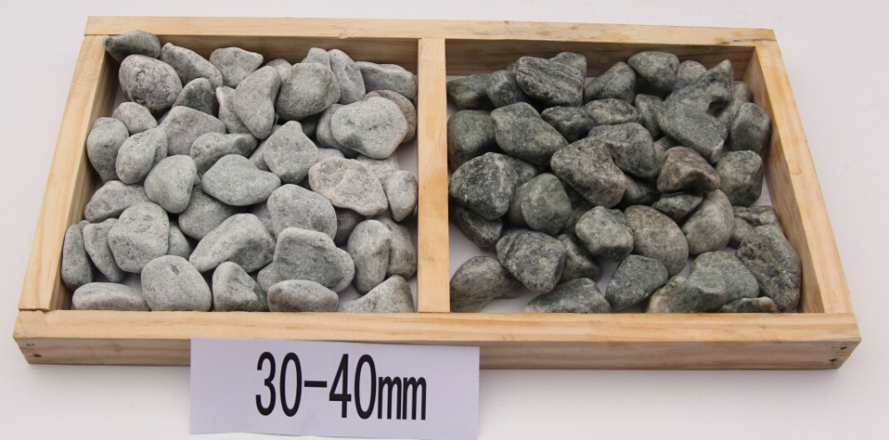 Home depot decorative stone granite white rocks for Landscaping rocks home depot