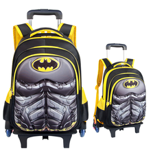 Trolley Backpack New Design Detachable Kid Trolley School <strong>Bag</strong> for boys