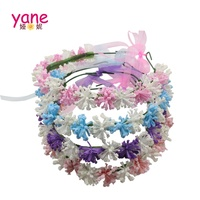 Factory price flower tiara multicolor flower crown