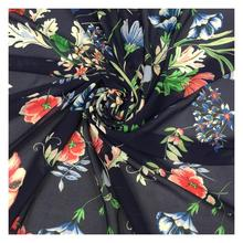 Wholesale weed pattern digital printing on chiffon fabrics