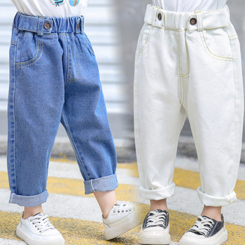 S51809A  New Korean girl's Trousers 2019 New casual loose jeans pants