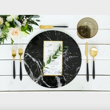 Custom 13inch Wedding Marble Acrylic Charger Plate
