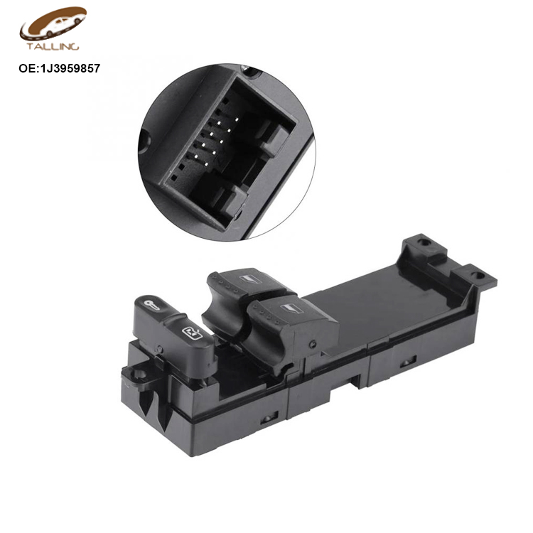 Black Car Window Master Switch 2 Doors Driver Side Panel For Skoda Fabia/Octavia 1996-2010 For VW Golf MK4 99-06 1J3959857