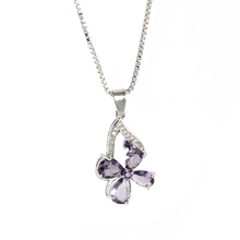Four-leaf clover necklace jewelry sweet zircon pendant necklace for female