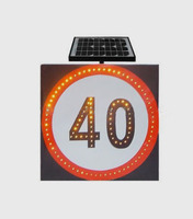 Factory direct traffic LED solar speed limit round sign