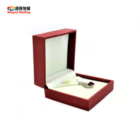 Most popular jewel gift leather cover paper plastic jewelry box