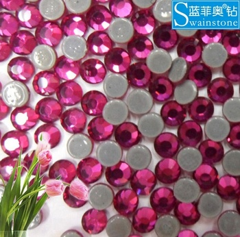 S0818 China Shop rhinestone hot-fix flat back,hotfix rhinestone flatback fuchsia,hotfix flatback rhinestone strass for hats