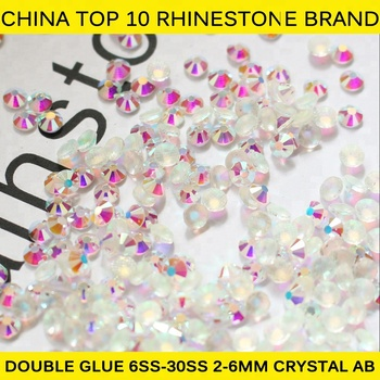 Y0912 Free ship!! China manufacturer 144 pcs 1gross SS40 crystal AB hotfix crystal,iron-on rhinestones,transfer pedreria