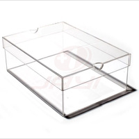 Custom Transparent Acrylic Sneaker Box Large Clear Shoe Storage Box