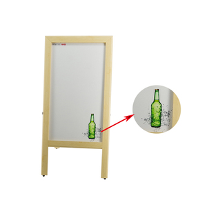 Advertising Poster Stand Double Side Chalk Blackboard White Board Easel
