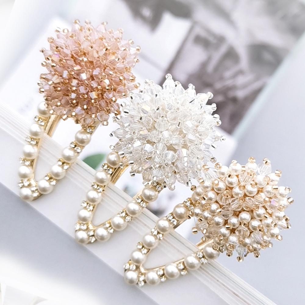 Crystal pearl <strong>Hair</strong> clip BB Barrette <strong>Hair</strong> <strong>Accessories</strong> for women baby girl kids drip clip girl Ins wholesale Chinese Cheap