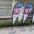 Textile Promotional Usage Advertising Exhibition Event Outdoor Feather Flag Flying Beach Flag Banner Stand,Teardrop Flag