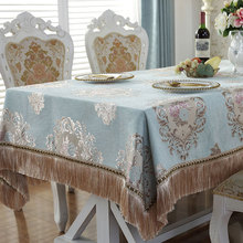 2019 New Hot sale European Luxury cotton printed Decoration Supply table cloth for wedding Party Event Banquet