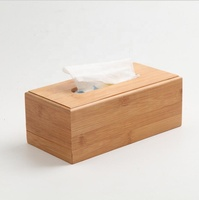 Bamboo Tissue Box For Home Office Desktop Wooden Paper Towel Box Hotel Napkin Wood Holder Household Seat Type Canister
