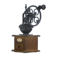 Ecocoffee HOT Manual Coffee Grinder Antique Cast Iron Hand Crank Coffee Mill With Grind Settings & Catch Drawer