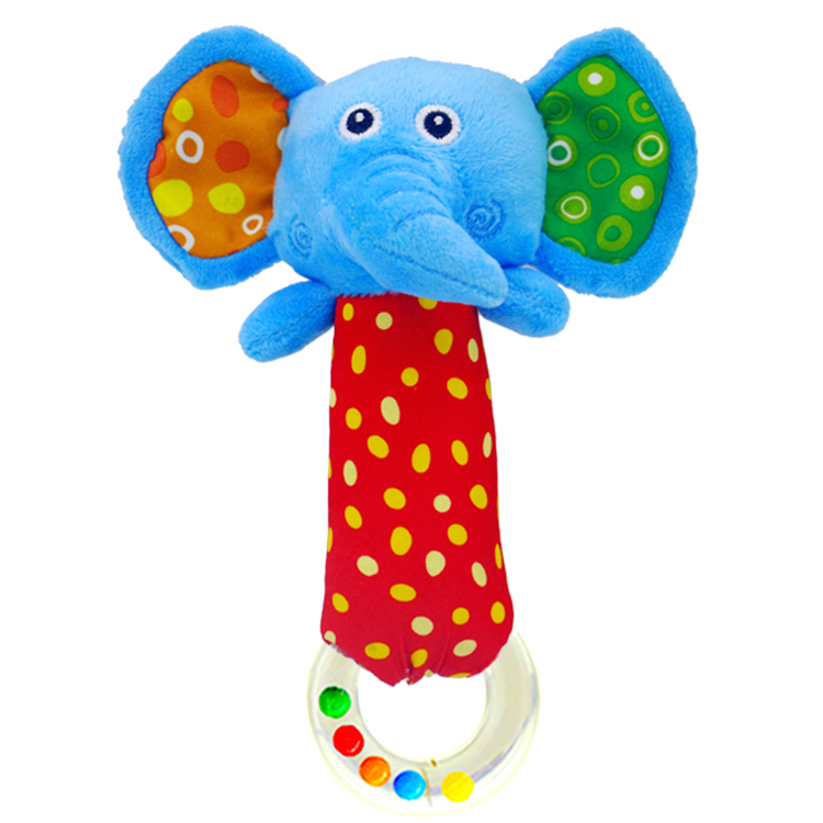 Baby Rattles Toys Elephant Cattle Animals Toy Newborn Hand Bell Development NSNE