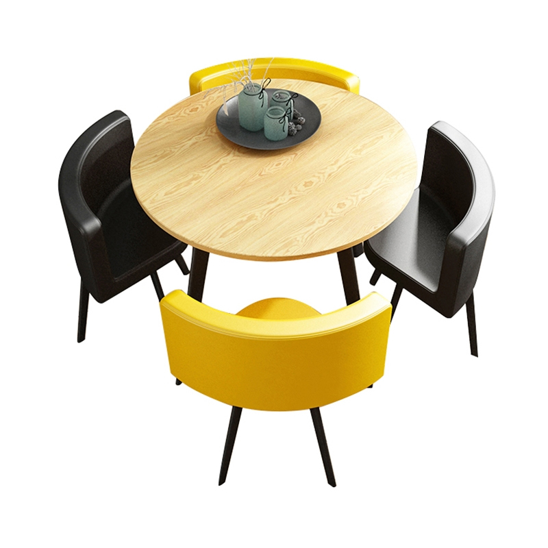 Hot Sale Round Restaurant Dining Living Room Wooden Cafe Table MDF <strong>Furniture</strong>