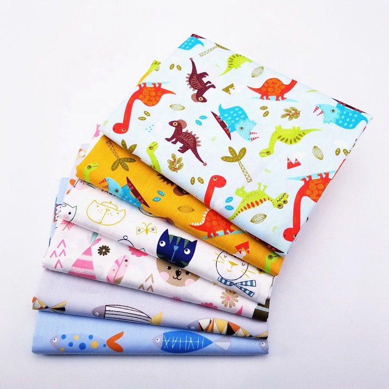 Baby Handmade DIY Cloth Printing Cartoon Pattern 100% Cotton Twill For Sewing Home Textile <strong>Material</strong>