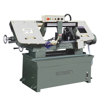 BS916 horizontal metal steel bar cutting band saw machine